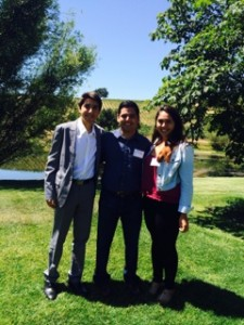 Niki Mani and her younder brother Alex Mani getting advice from US Congressman Doctor Raul Ruiz in expanding Stop Diabetic Blindness to indigent cities in the US.